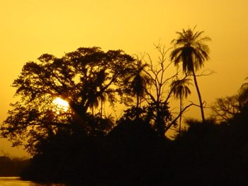Sunset on The Gambia by Richard Sheard