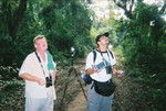 Tools of the trade--Clive Barlow and Peter Ferrera at Rirang Forest Reserve
