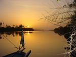 Golden sunset on The Gambia by Richard Sheard